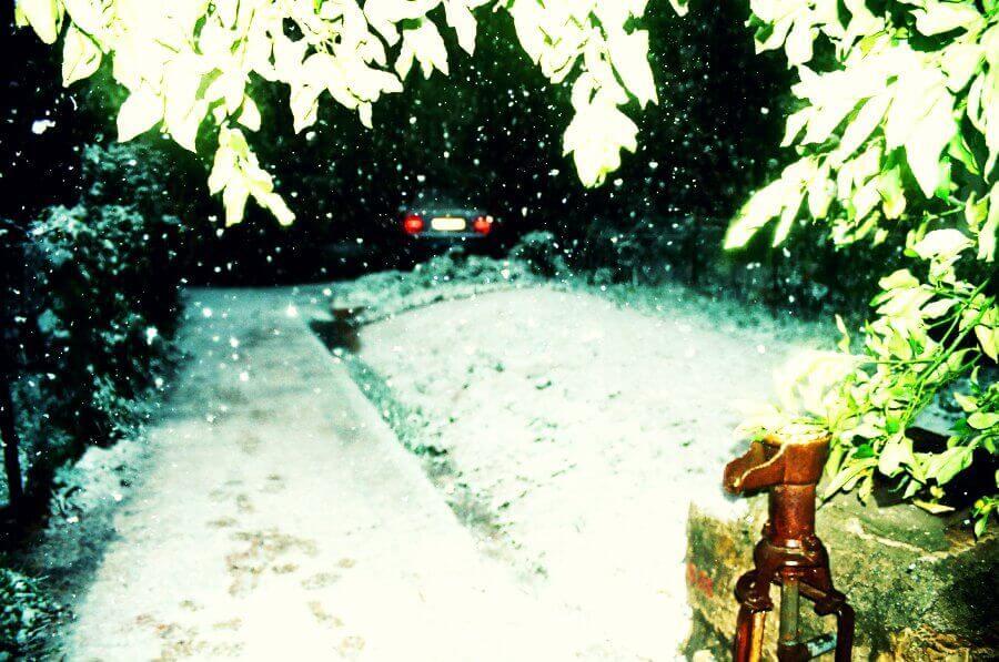 שלג בפינת חמד בעיר